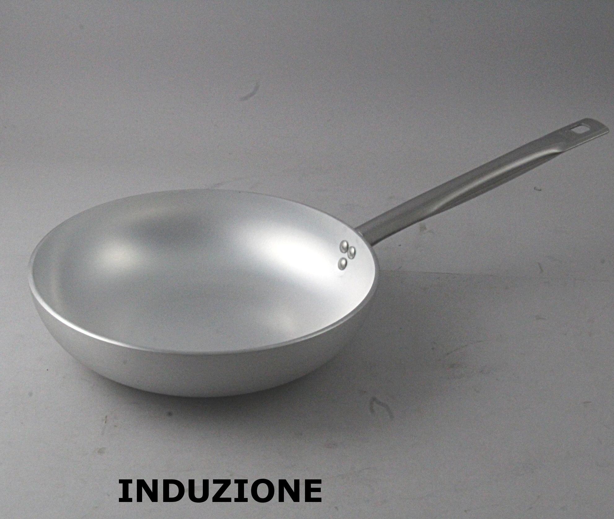 padella alluminio alto spessore a induzione